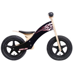 "Rebel Kidz Wood Air Balance Bike 12"" Kids, flames/black"